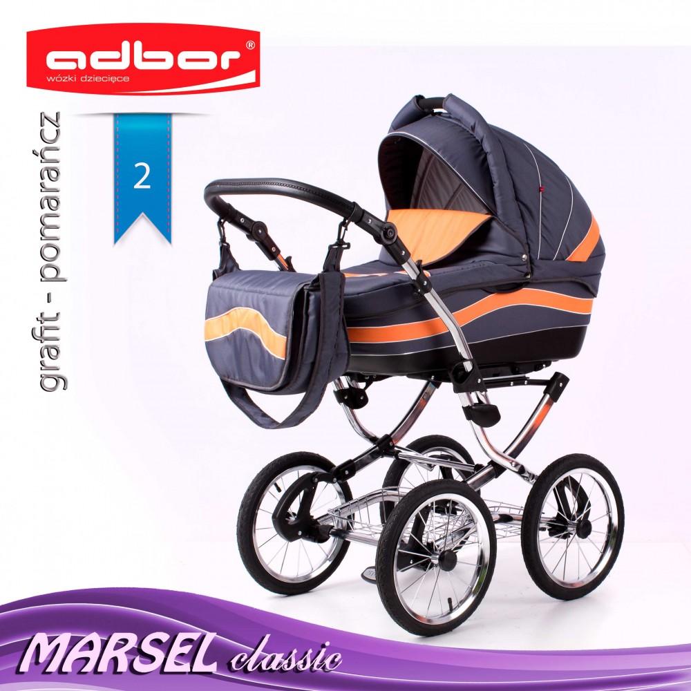 Wózek 3w1 Marsel Perfor Stelaż Classic Adbor Babybumcompl